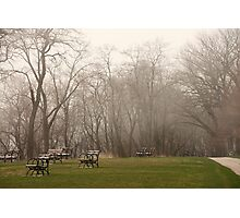 Lake Park Foggy Landscape Photographic Print