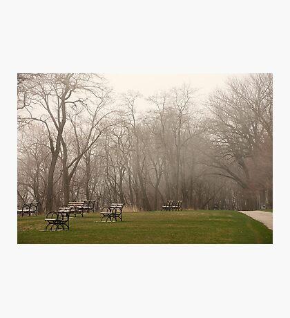 Lake Park Foggy Landscape Photographic Print