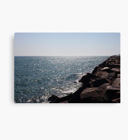 Glistening Horizon Lake Michigan Scene Canvas Print