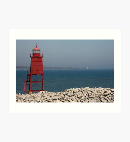 Red Watch Tower Art Print