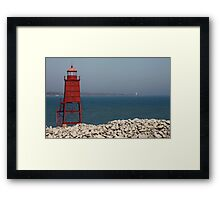 Red Watch Tower Framed Print
