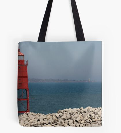 Red Watch Tower Tote Bag
