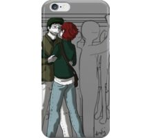 Lovers on the bus iPhone Case/Skin