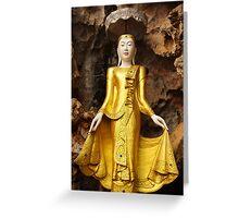 A feminine Buddha Greeting Card