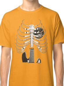 Guitar Skeleton Microphone Rock Music Lovers Classic T-Shirt