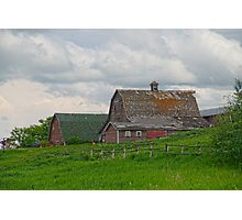 Farm House on a Hill Photographic Print