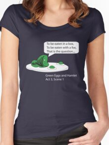 Green Eggs and Hamlet Women's Fitted Scoop T-Shirt