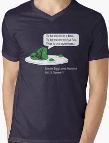 Green Eggs and Hamlet Mens V-Neck T-Shirt