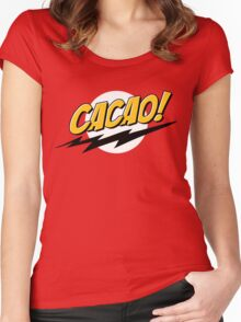 Cacao  Women's Fitted Scoop T-Shirt