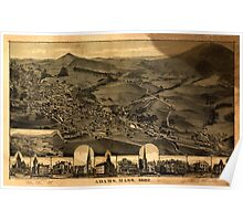 Panoramic Maps Adams Mass1882 Poster