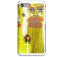 detail from rio prayer painting iPhone Case/Skin