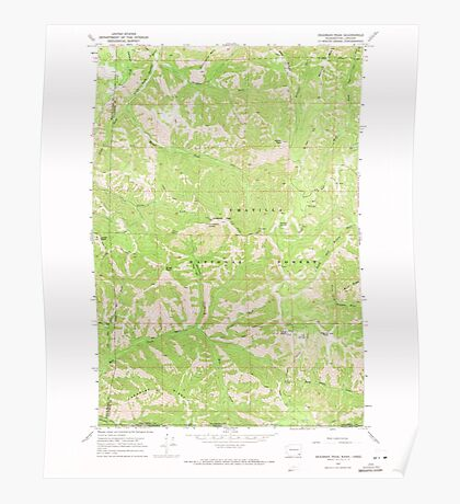 USGS Topo Map Washington State WA Deadman Peak 240795 1967 24000 Poster