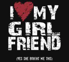 I Love Heart My Girlfriend One Piece - Long Sleeve