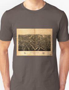Panoramic Maps Medford Massachusetts1880 Unisex T-Shirt