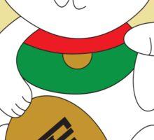 Maneki Neko Cat Luck and Good Fortune  Sticker