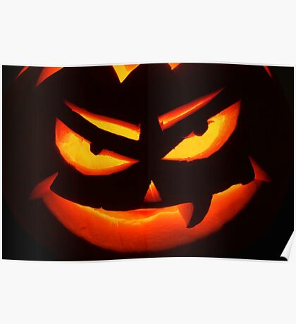 Pumpkin face Poster