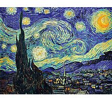 Starry Night by Vincent Van Gogh Photographic Print