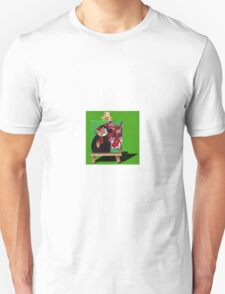 Rugby World Cup - New Zealand vs England - 2 Finger Salute on grass T-Shirt