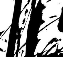 Ink splashes. Abstract stain pattern Sticker