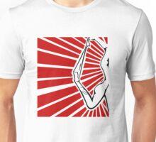 Rockabilly Burlesque Strip Tease Graphic Art Wartime  Unisex T-Shirt
