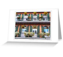 """Flower Boxes"" New Orleans French Quarter Greeting Card"