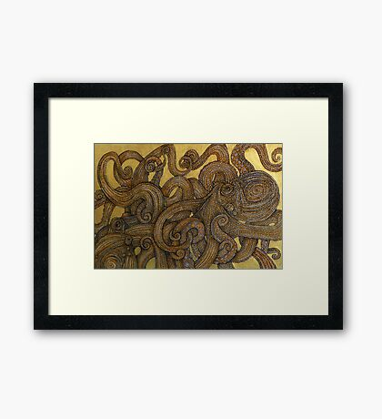 Dueling Octopus (Sucker Punch) Framed Print