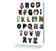 Geek's Alphabet Greeting Card