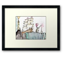 Accordion Sea Framed Print