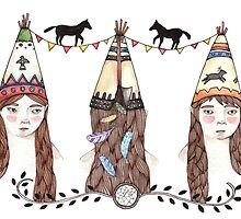 Tipi Party by LittleCanoe