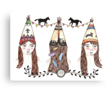 Tipi Party Canvas Print