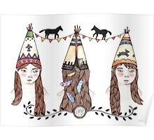 Tipi Party Poster