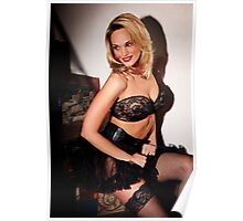 Jade in Lace & Fishnets Poster