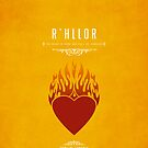 R&#x27;hllor iPhone Case by liquidsouldes