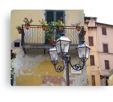 The pictoresque and lively town of Barga Canvas Print