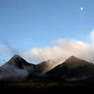 Moon over the Cuillin, Isle of Skye, Scotland by ScotLandscapes