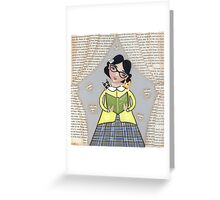 The Reader Greeting Card
