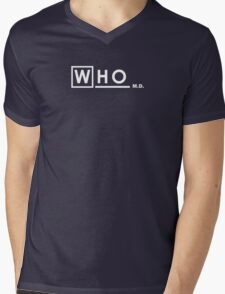 WHO M.D. Mens V-Neck T-Shirt
