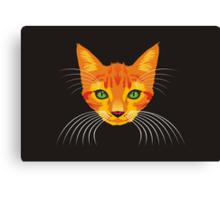 orange cat tee Canvas Print