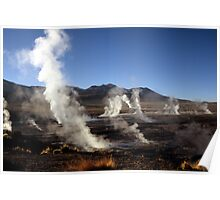 The Steaming Valley, Geysers El Tatio, Chile  Poster