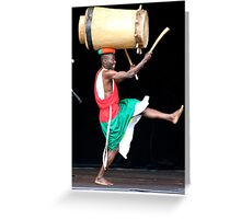 Master Drummer March Greeting Card