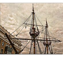 Golden Hind rigging by MrsRatbag