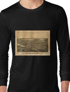 Panoramic Maps Amsterdam Port Jackson NY Long Sleeve T-Shirt