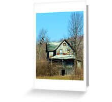 Boarded up, nobody home... Greeting Card