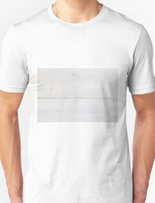 White wood texture as a background Unisex T-Shirt