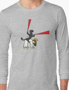 Honey Badger Riding Jesus Long Sleeve T-Shirt