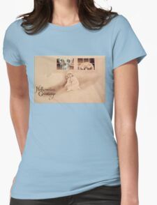 Wrong Shoulder... (Vintage Halloween Card) Womens Fitted T-Shirt