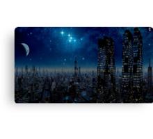 Metropolis Moon Canvas Print