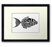 Trigger Fish Tribal Design Framed Print