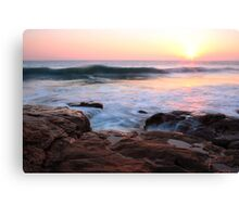 Sunset at Rinsey Cove, Cornwall Canvas Print