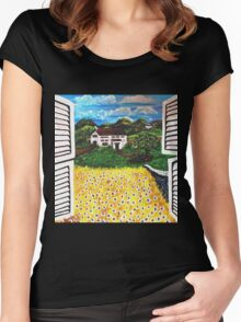 Oko's Open Shutters II.........That's What Friends Are For Women's Fitted Scoop T-Shirt